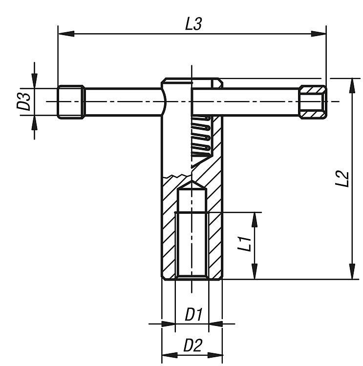 Tommy Bars With Fixed Or Sliding T-bar, Din 6305 Or Din 6307 - Operating parts