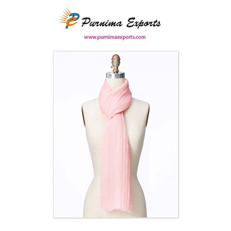 Écharpe en lin rose clair -