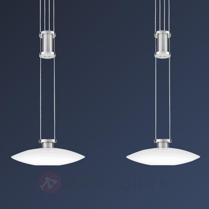 Suspension LED New Elina Nickel à deux lampes - Cuisine et salle à manger