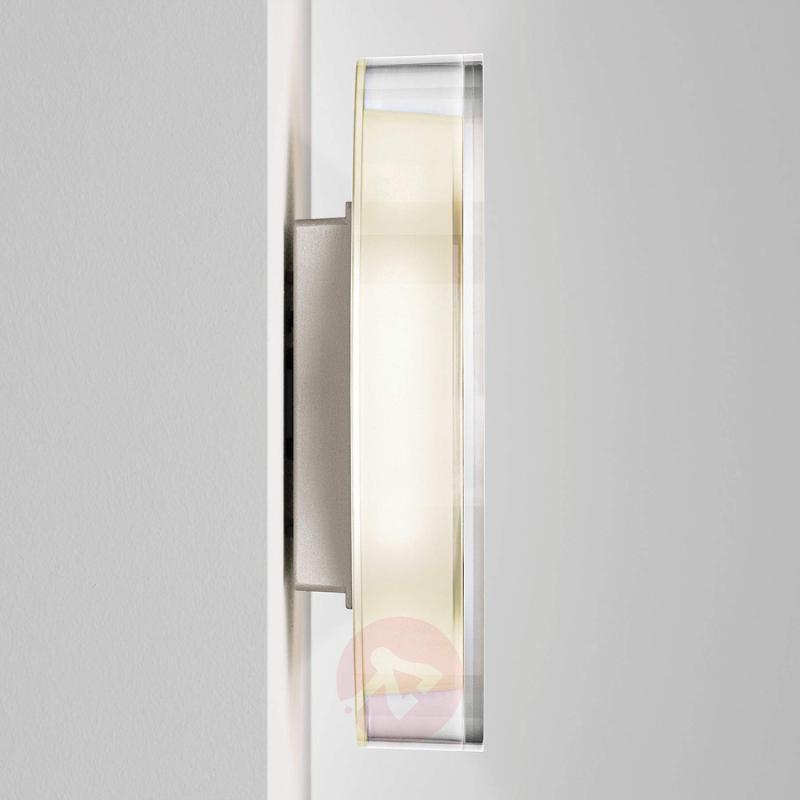 LED designer wall light Lid with opal glass - design-hotel-lighting
