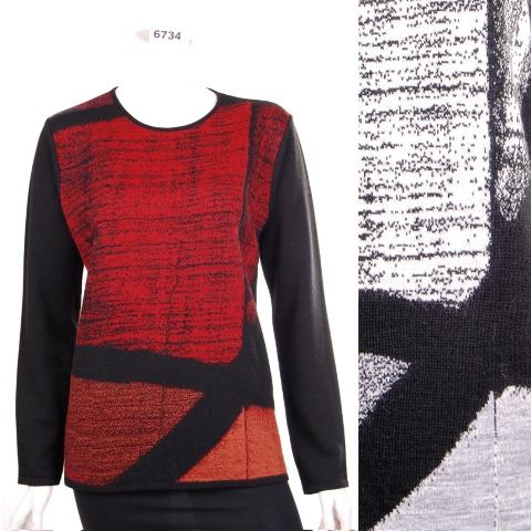 jacquard knitted creations wool - Fashion knitwear design lana in blend