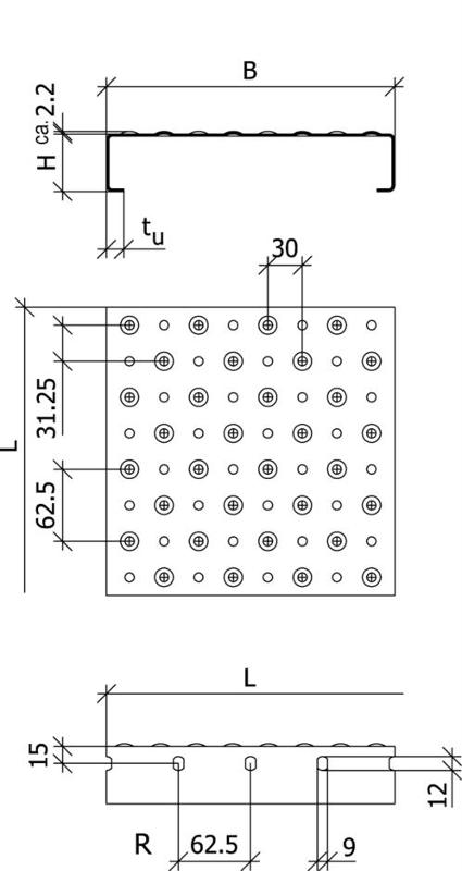 perforated metal planks - Type BN-GA