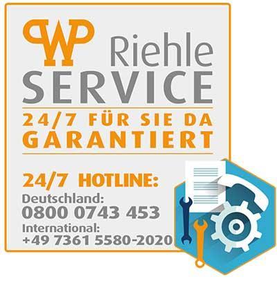 Der WP RIEHLE 24/7 Service - 365 Tage rund um die Uhr erreichbar