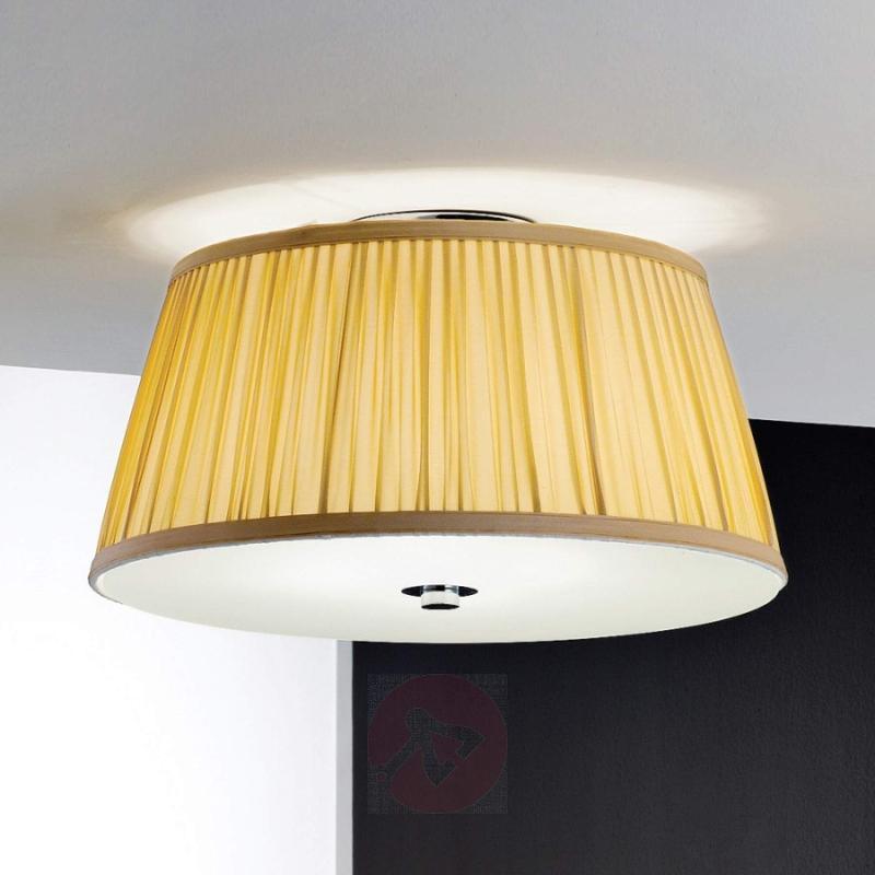 Iliana Ceiling Light Pleated Shade Beige - design-hotel-lighting