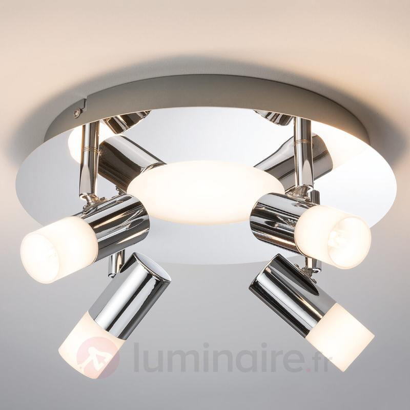 Plafonnier Lagoon avec LED supplémentaires - Plafonniers chromés/nickel/inox