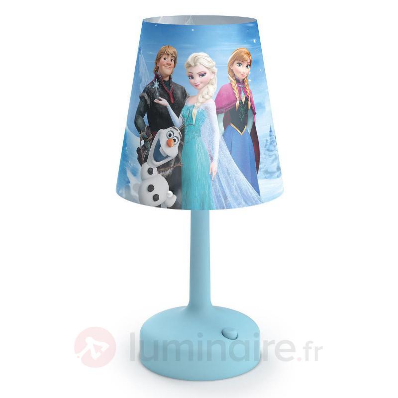 Lampe à poser LED à piles Reine des Neiges - Chambre d'enfant