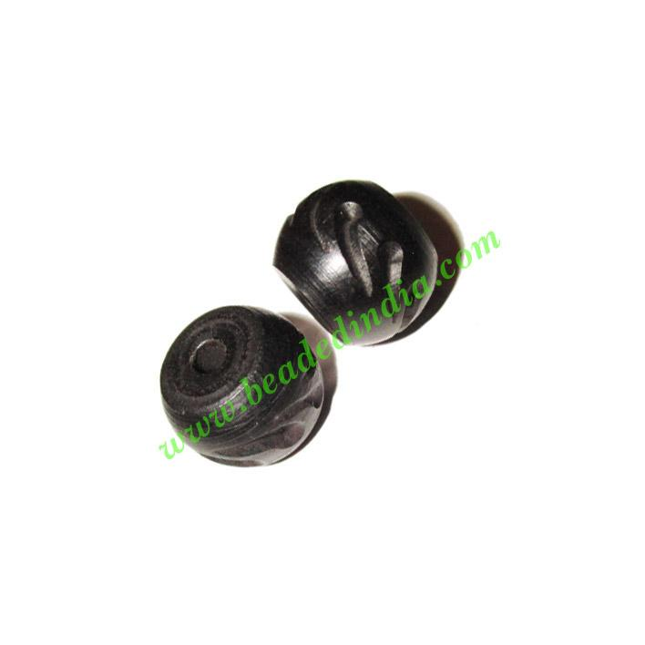 Wooden Ebony Beads, color black, size 10x14mm, weight approx - Wooden Ebony Beads, color black, size 10x14mm, weight approx 1.9 grams