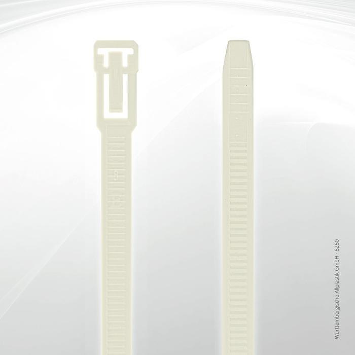 Allplastik-Kabelbinder® cable ties, can be reopened - 5250 (natural)