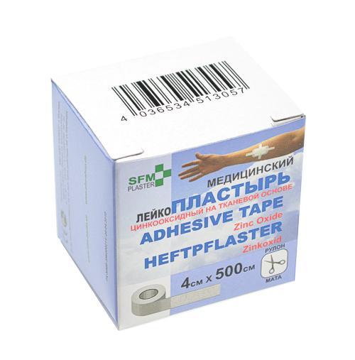SFM Zink-Oxid Heftpflaster mit Plastikkern in Box 4cm... - null