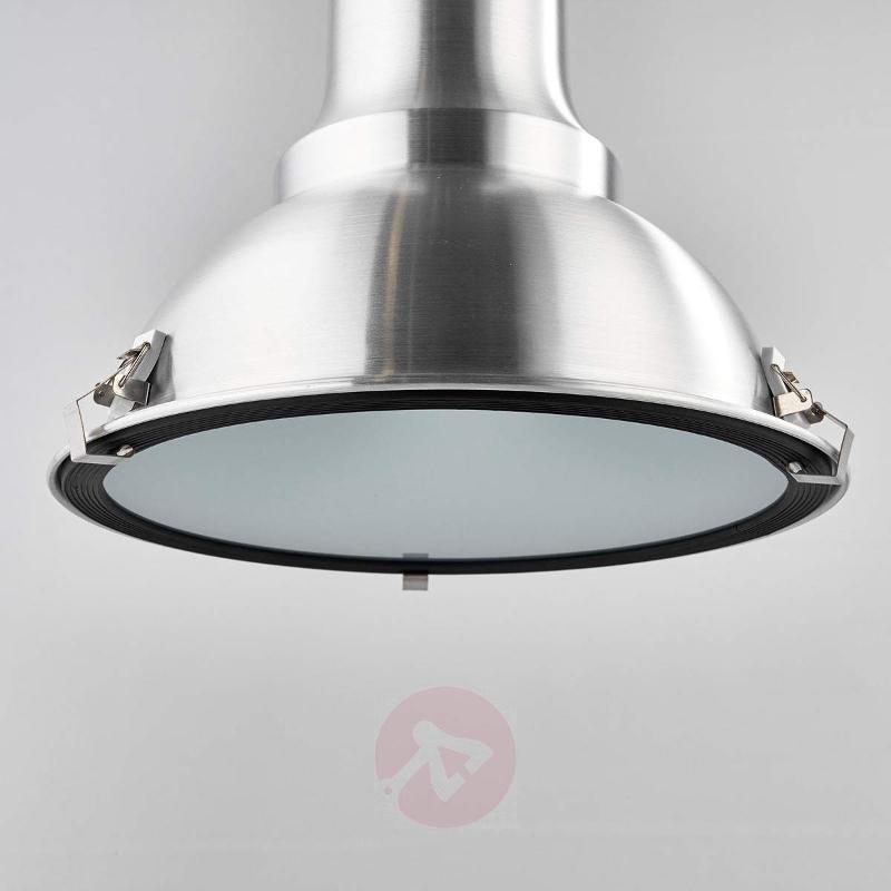 FACTORY - stylish hanging light, satin chrome - Pendant Lighting