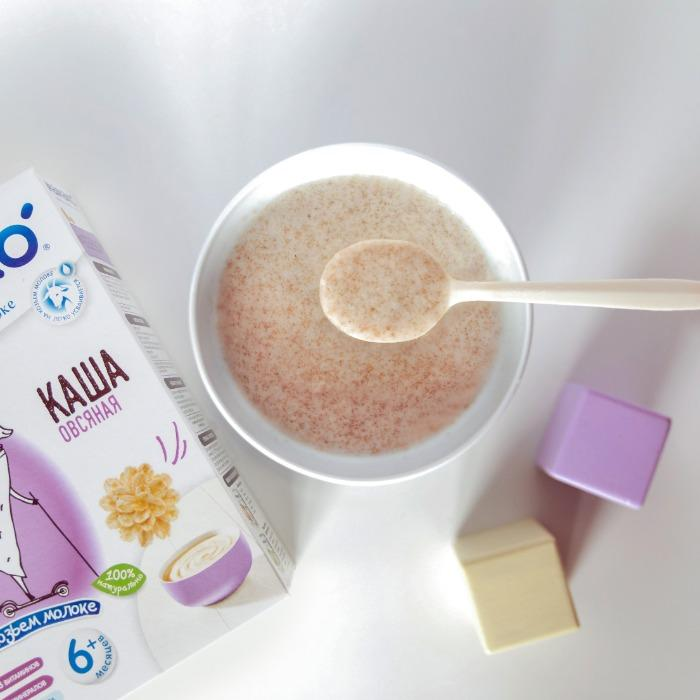 Goat milk-based oatmeal cereal -