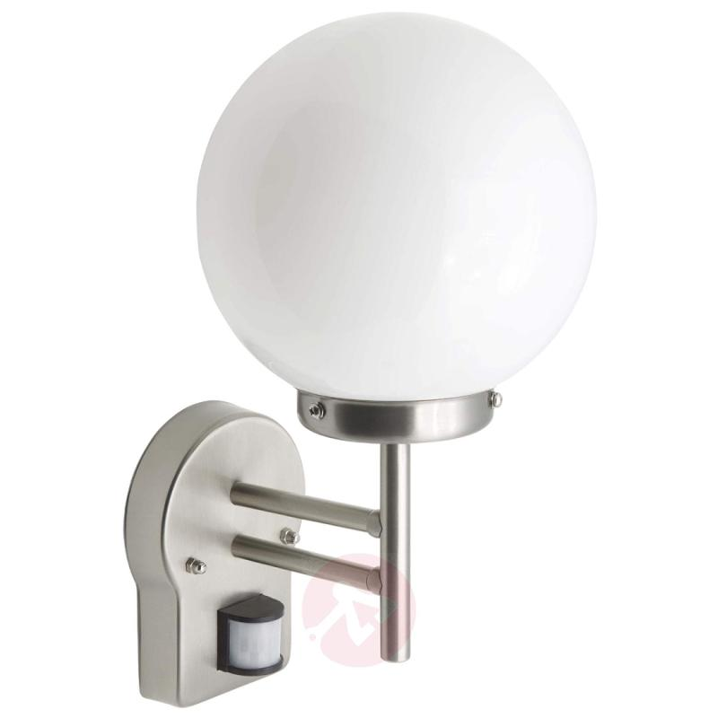 Outdoor wall light Magata with motion detector - stainless-steel-outdoor-wall-lights