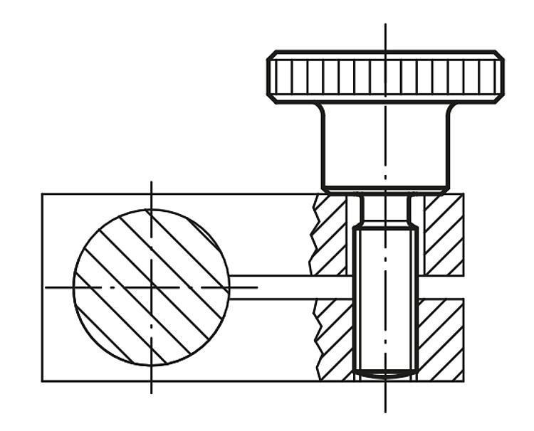 Vis striée en acier ou Inox DIN 464 - Poignées et boutons