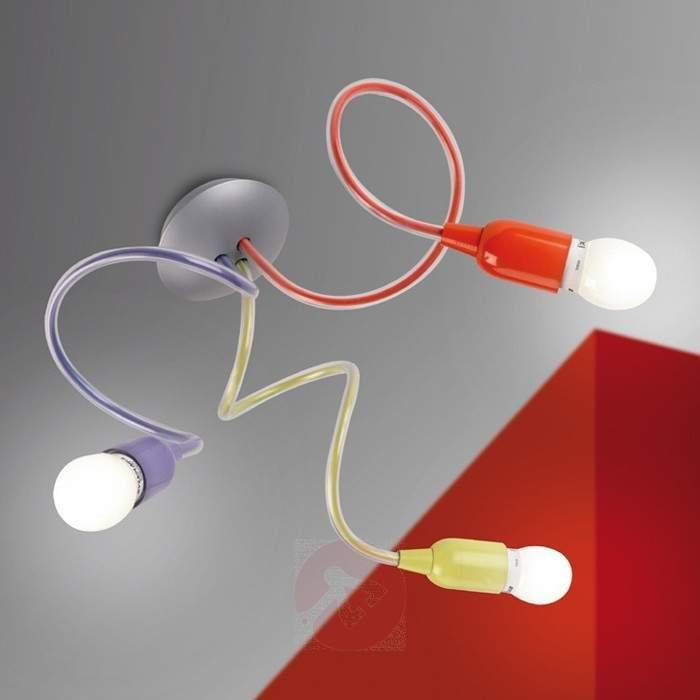 Colourful 3-bulb ceiling lamp BINGO - Ceiling Lights