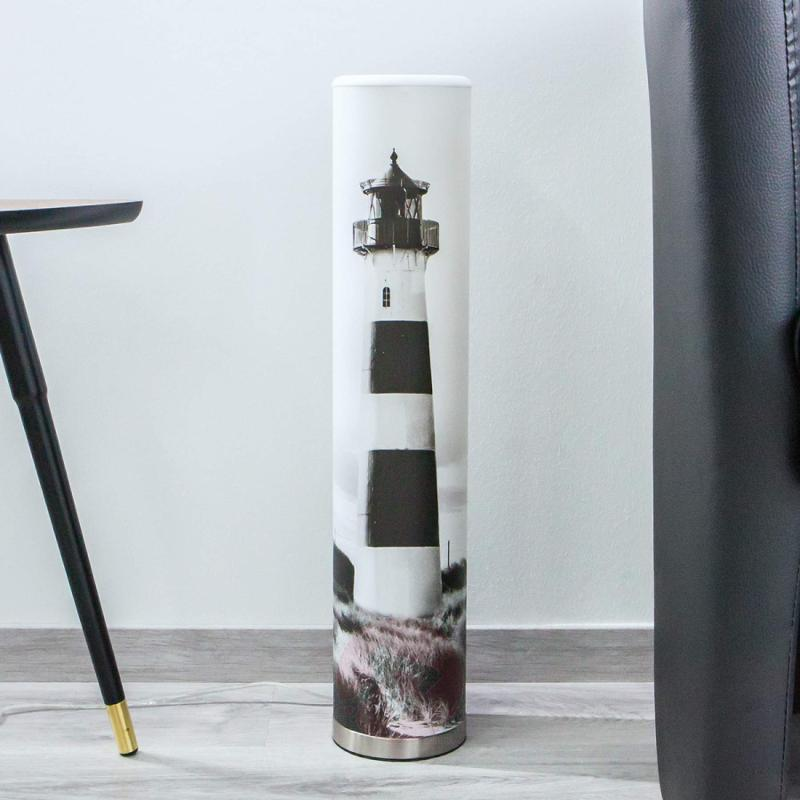 Eastern Sea - LED table lamp with lighthouse print - indoor-lighting