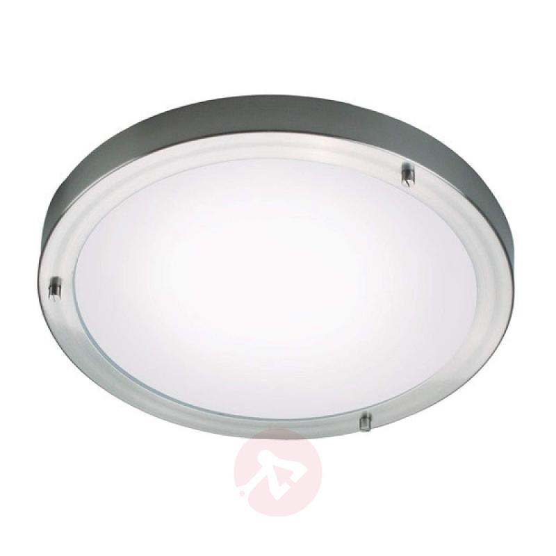Discrete wall lamp Round, 31 cm brushed - design-hotel-lighting