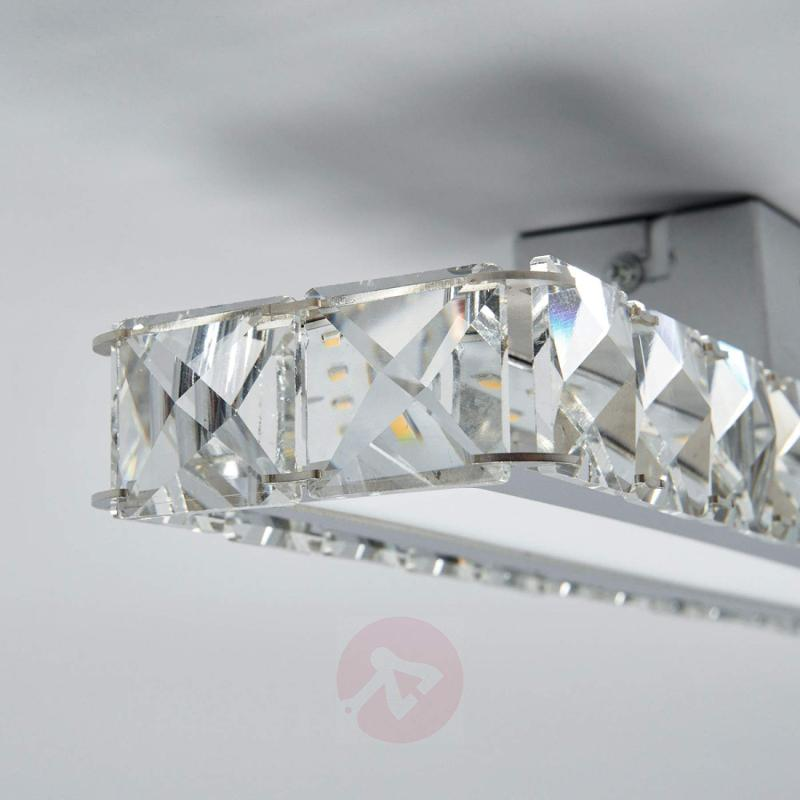 Powerful crystal ceiling lamp Sesilia with LEDs - indoor-lighting