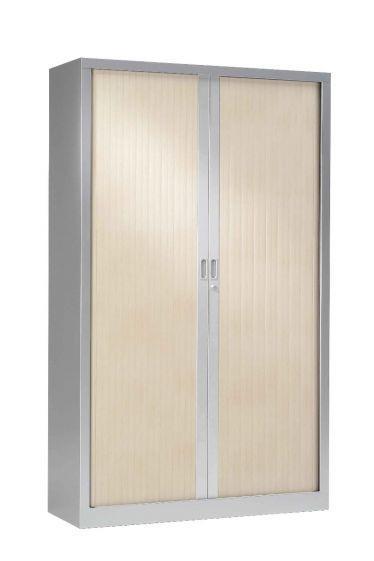 Armoire Haute 1.98 X 1.20 M Rideaux Bois - Équipements De Bureau