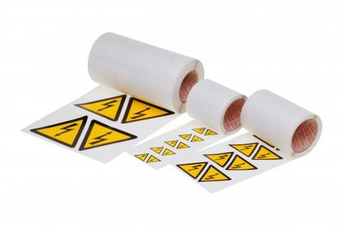self-adhesive high voltage arrows 25 mm - made from Steierform 87-50712