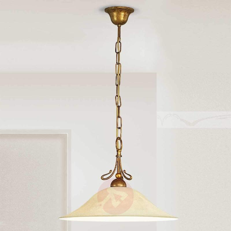 Hanging light Antonio in antique brass - Pendant Lighting