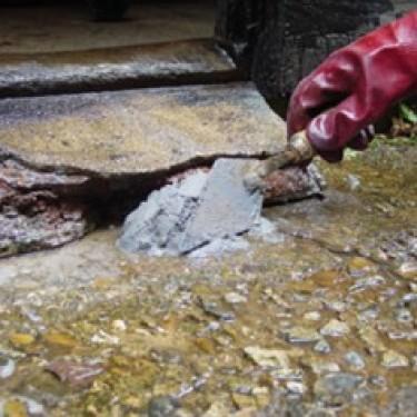 Mortier de réparation béton - Kit Concrex Spécial Humidité Truelle de 14 cm