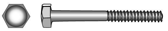 Hexagon head bolts with shank - Material A2   A4   1.4571   1.4462   1.4529