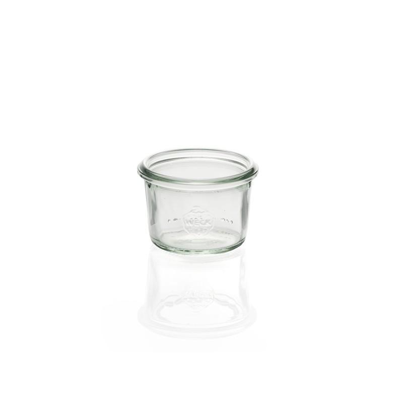Vasi Weck® DROIT - 6 vasetti di vetro WECK senza guarnizione, ne tapo (diam. 60