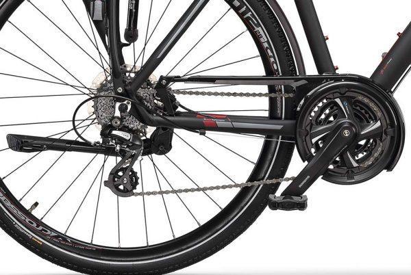 CROSS TRAVEL Man – cuadro de aluminio, 24 velocidades, frenos hidráulicos - Cross