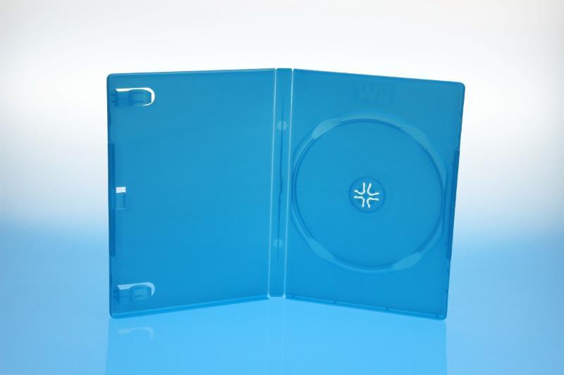 DVD Box - 14mm - WII U blau - kartoniert - Gameboxen