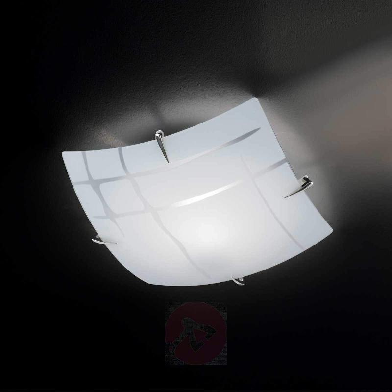 Quadratic ceiling lamp GINA made of glass - Ceiling Lights