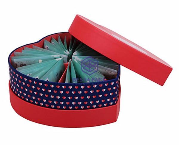 Caja con forma de corazón - Caja en forma de corazón con inserto de cartón permanente