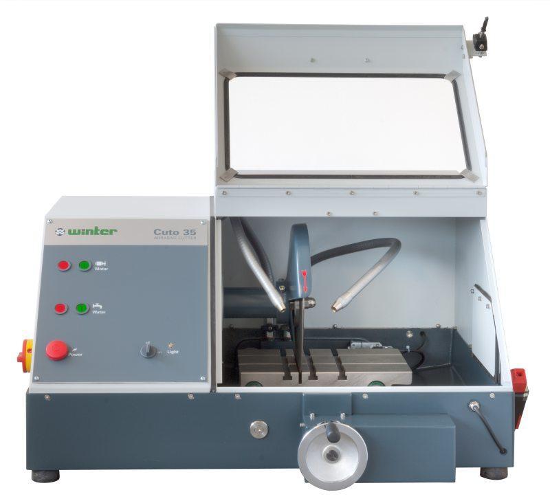 Nasstrennschneidmaschine TYPE Cuto 35 - Robuster Trennschneider für den Einsatz in Materialographie und Produktion
