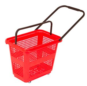 Medium-size basket with wheels  - Capacity for 54L