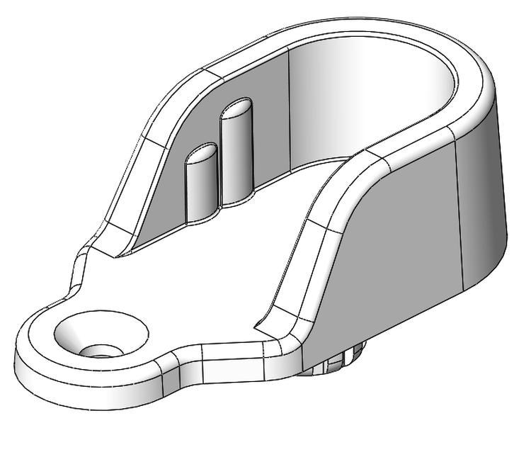 Schrankrohrlager Sternzapfen - Kunststoff - grau-aluminium - Schrankrohrlager