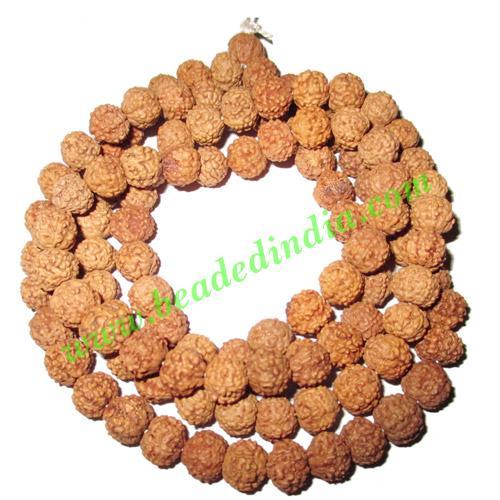 Rudraksha Beads String (mala) 7 Mukhi (seven face), size: 7m - Rudraksha Beads String (mala) 7 Mukhi (seven face), size: 7mm