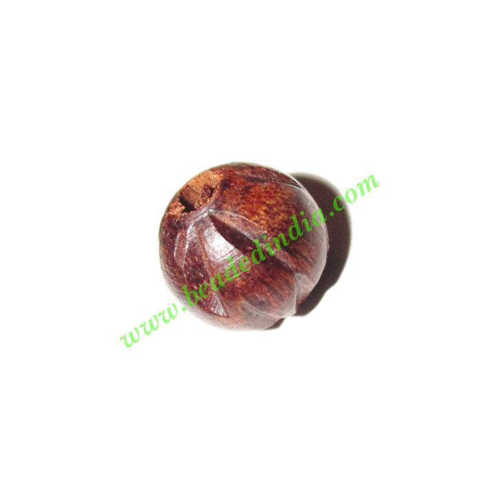 Rosewood Beads, Handcrafted designs, size 10mm, weight appro - Rosewood Beads, Handcrafted designs, size 10mm, weight approx 0.79 grams
