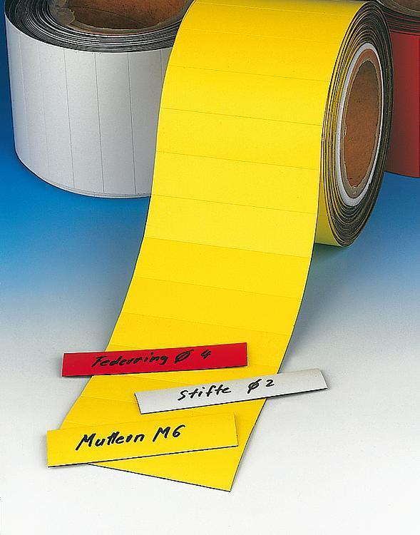 Étiquette magnétique de magasin en rouleau, prédécoupée - Rubans de précision Etiquettes et pochettes magnétiques Filets de...