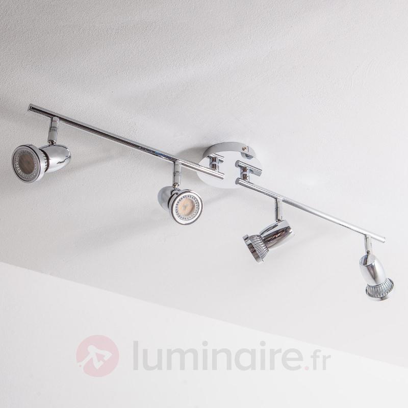 Plafonnier LED GU10 Arminius à 4 lampes - Plafonniers LED