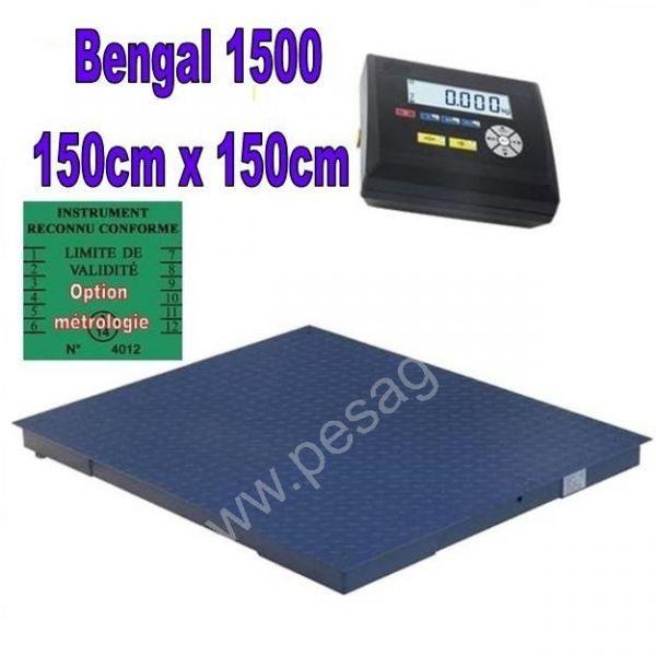 Balance industrielle 1500Kgs - Balances au sol (ACIER et INOX)