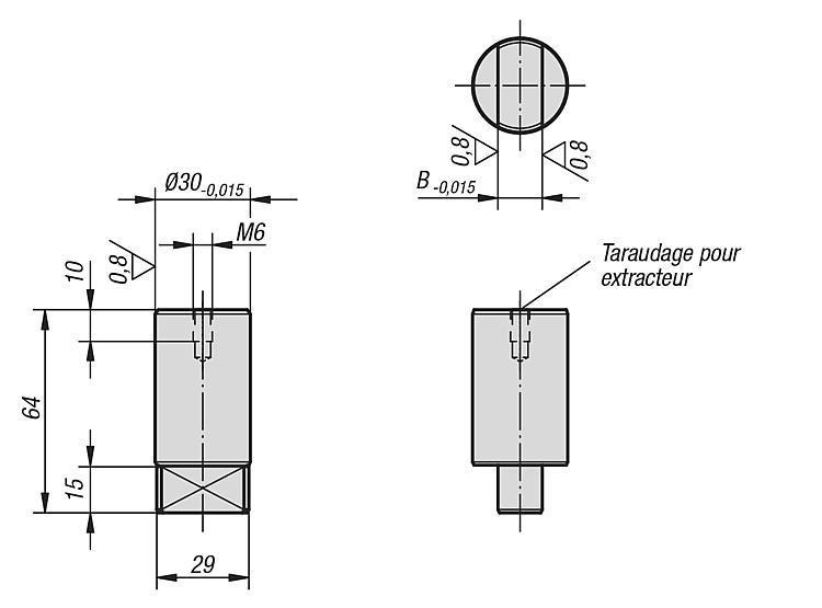 Cylindre de positionnement - Accessoires