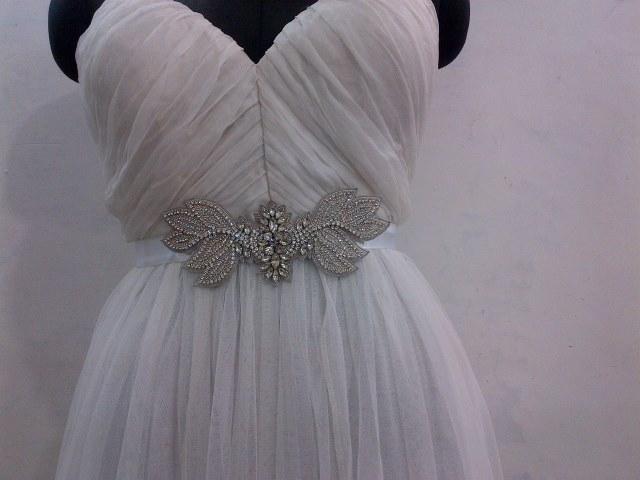 Ceinture brodée pour robe de mariée  -