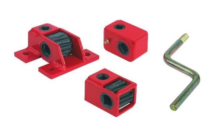 Riduttore a vite senza fine - Riduttore a vite senza fine, coppia consentita 100 Nm, con flangie di fissaggio