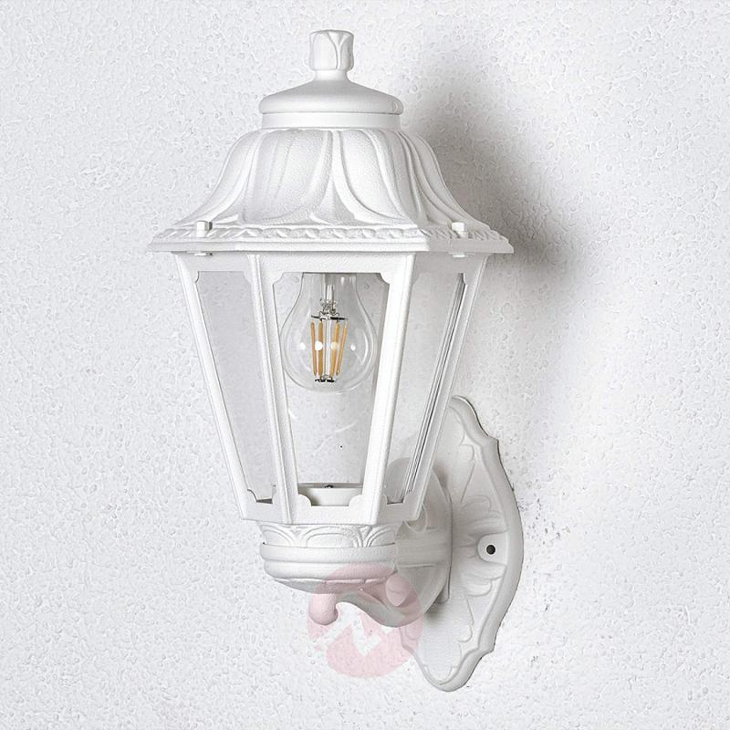 LED outdoor wall light Bisso Anna, lantern up - outdoor-led-lights