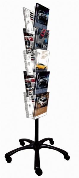 Brochure Sets - Porte Brochures sur roulettes (10 pcs)