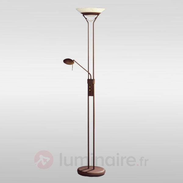 Lampadaire Agio avec variateur d'intensité rotatif - Lampadaires à éclairage indirect