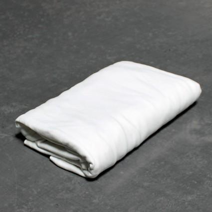 Linge de lit : draps, taies, alèses - Drap-housse en Jersey Poly Coton blanc