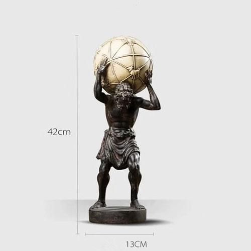 Polystone resin antique ancient Greek Titan god Altas statue - Figures