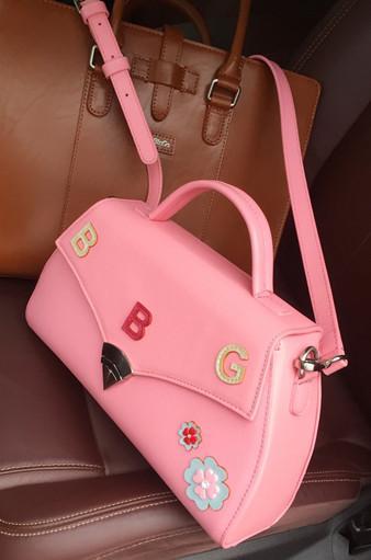 BG Sac Damour,Stylish Leather Handbag - Chic Crossbody Bag,Stylish Handbags,Edgy Bags,Fashion Handbags