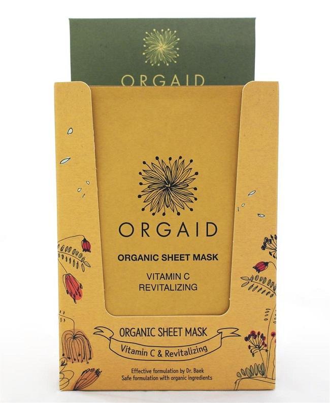 ORGAID - Display with 12 pcs. Vitamin C & Revitalizing Organic Sheet Mask