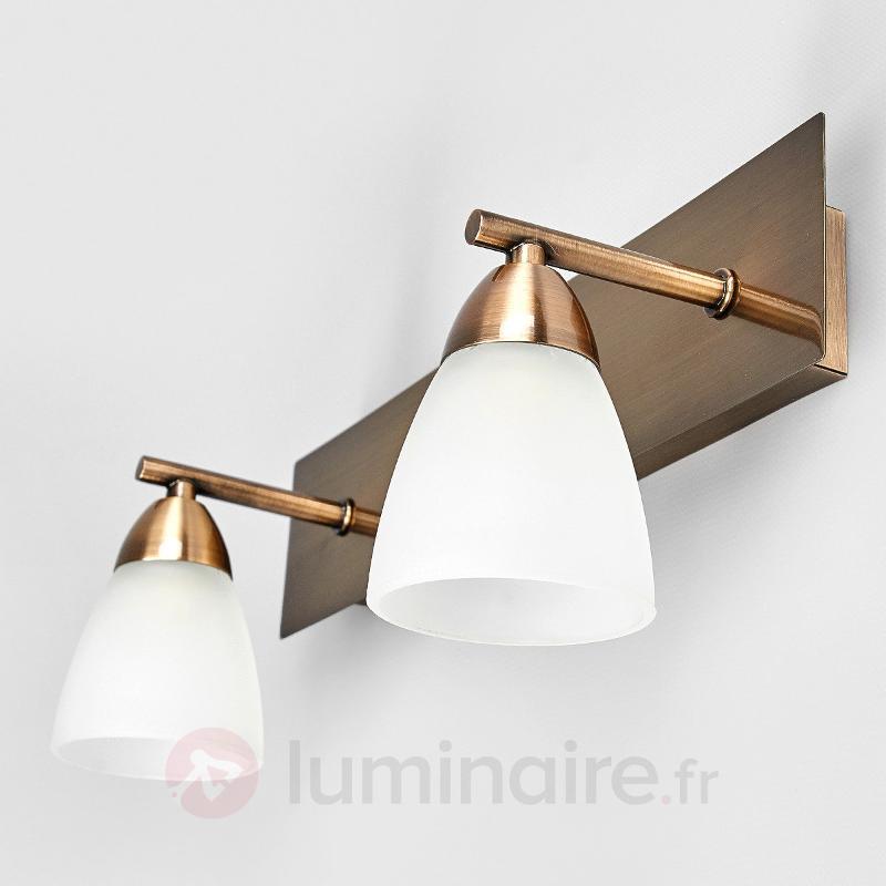 Applique pour salle de bains Nikla à deux lampes - Salle de bains et miroirs